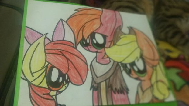 Apple Family Art Trade by SonicPals101