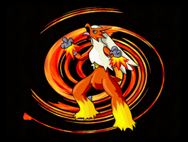 All Fired Up: Blaziken by Jiayi