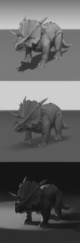 Triceratops by samuraise