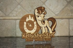 Kelly Sheridan EFNW 2015 Plaque by Earth-Pony