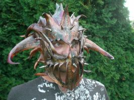 Leather Dragon Armor Mask by Skinz-N-Hydez