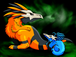 Commission - Xeshaire: Kabocha and Chippy by DarkmaneTheWerewolf
