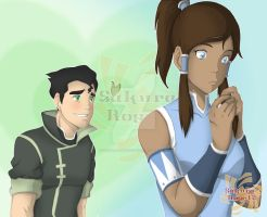 Bolin and Korra by Sakura-Rose12