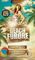 Beach Furore Party Flyer by caniseeu