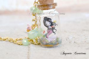 mermaid in a bottle by AngeniaC