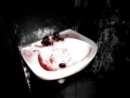 macabre  bathroom II by aramoixx
