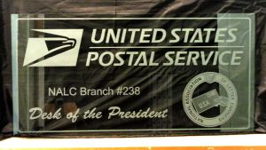 USPS Postal Service Etched Glass Partition by ImaginedGlass