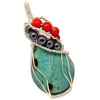 Turquoise teardrop pendant by Gailavira