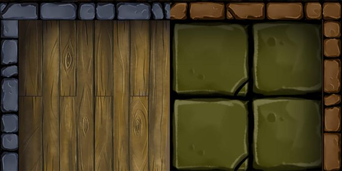 Hand Painted Dungeon Tile Textures by StuartRobertson