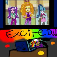 Excited for EQG2: Rainbow Rocks! by YaoiLover113