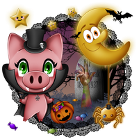 Contest Entry: HalloPig by kinga-saiyans