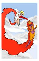 Power Girl vs. Starfire by monkeygeek