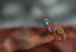 Stand in the rain by Rubylockheartwolf