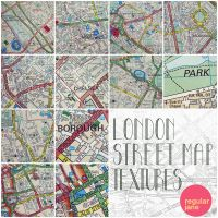 London Street Map Textures by regularjane