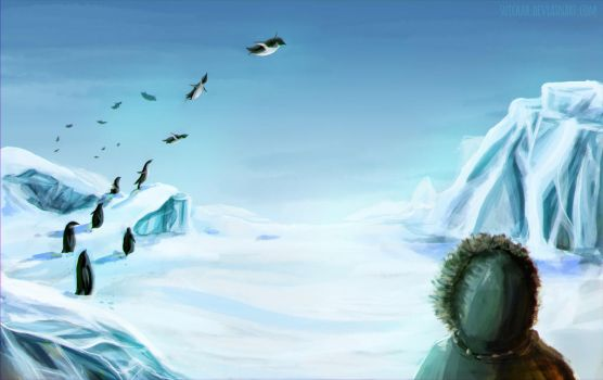 You say penguins can't fly? by Suichah