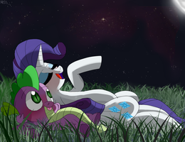 Rarity and Spike by MissPolycysticOvary