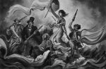 La Liberte guidant le Peuple  BlackandWhite step by Eyardt