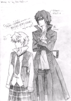 Pandora Hearts-Gilbert and Oz by tifah-senpai