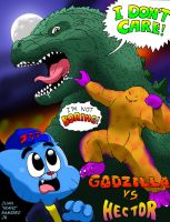 The Amazing World of Gumball vs. GODZILLA FTW! by WaniRamirez