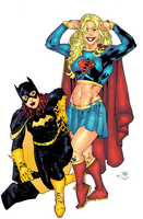 Supergirl and Batgirl 3 by Atlas0