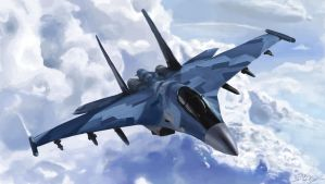Fighter Jet - SU 35 by declanhart93