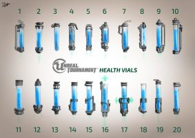 Unreal Tournament - Health Vials Concept Art by Sly-Mk3