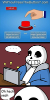 Undertale Comic: Sans Plays Would You Rather by SuperBecky