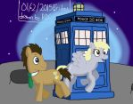 Doctor Whooves and Derpy Hooves by Fester1124