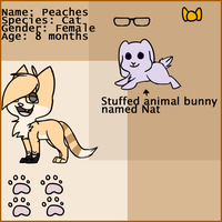 Peaches ref sheet by Meowmixed