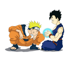 Gohan and Naruto by C-A-I