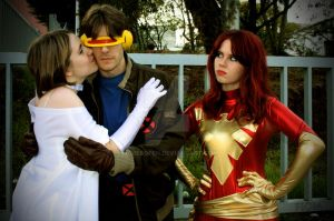 Phoenix, Cyclops and Frost 2 by WhiteLemon