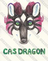Cas Dragon - Galaxy Face Painting by Crazdude
