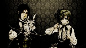 Sebastian and Ciel Wallpaper by okatsumi