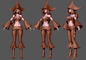 League of Legends: Miss Fortune Wip 3 by HazardousArts