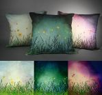 Cycles of Day - Pillow series by ValkyriaCreations