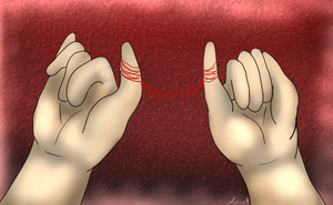 Red String of Fate by AquatheOhioKitty