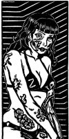 Zombie PinUp 1 Bookmark Test Print by DianaGarridoArt