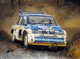 MG Metro rally car by Artbyantero