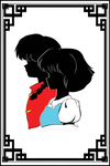 R1/2 - Ranma and Akane silhouette portrait by JustLynnWeav
