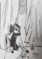 asuka black and white- a relaxing tea time by AmieeSha96