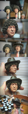 Full repaint - 1/6 scale 4th Doctor Tom Baker head by DarrenCarnall