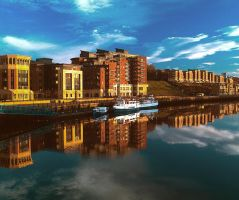 Reflections on the tyne. by FWHphoto