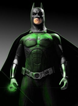 batman: green lantern by megamike75