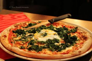 Spinach Pizza by SoulofNovember