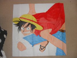 Giant Luffy drawing by KezXxX