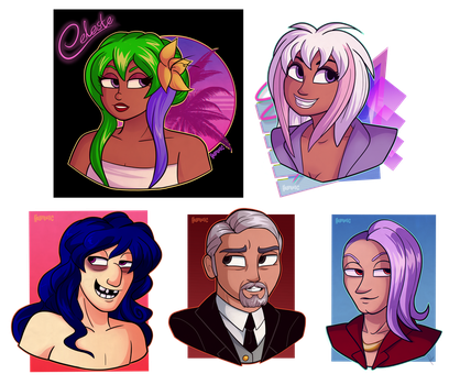 ArthurQF busts 2k16 by HELLADELICommissions