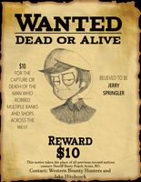 Jerry Wanted Poster by HaileyMorrisonBooks