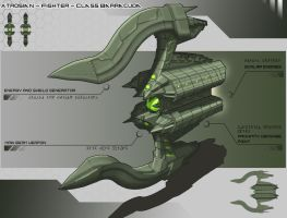 Adrosian - Fighter - Class Barracuda by Lock-Mar