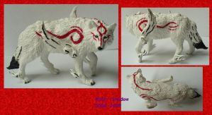 Okami Amaterasu figure by Wolf--Shadow