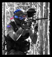 Patriotic Paintballer by alexandralinae